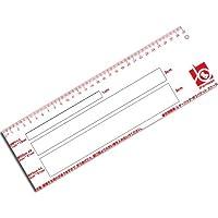 iFormosa 出品者用 定規 スケール 定形郵便 定形外郵便 ゆうパケット クロネコDM便 クリックポスト ポスパケット 1cm 2cm 3cm 厚さ測定定規 IF-SCL-15