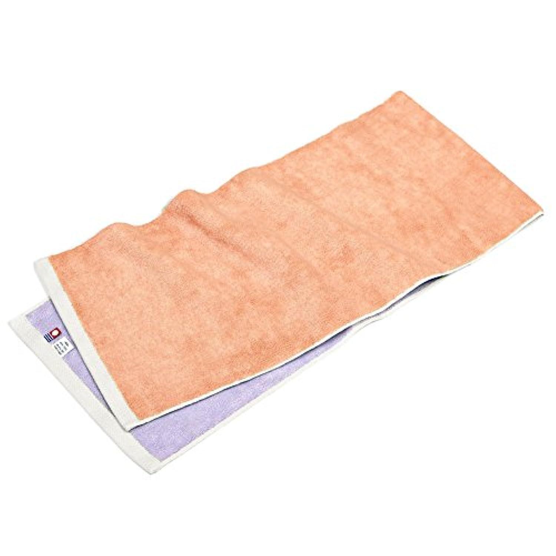 今治タオル スポーツタオル hoshi (コーラル×ライラック) 綿100% ピンク