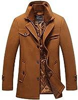 ダブル襟 コート メンズ 厚手 ウール製 冬服 中綿入り 暖かい ロング丈 通勤 紳士服保温性抜群 カジュアル ビジネス ジャケット