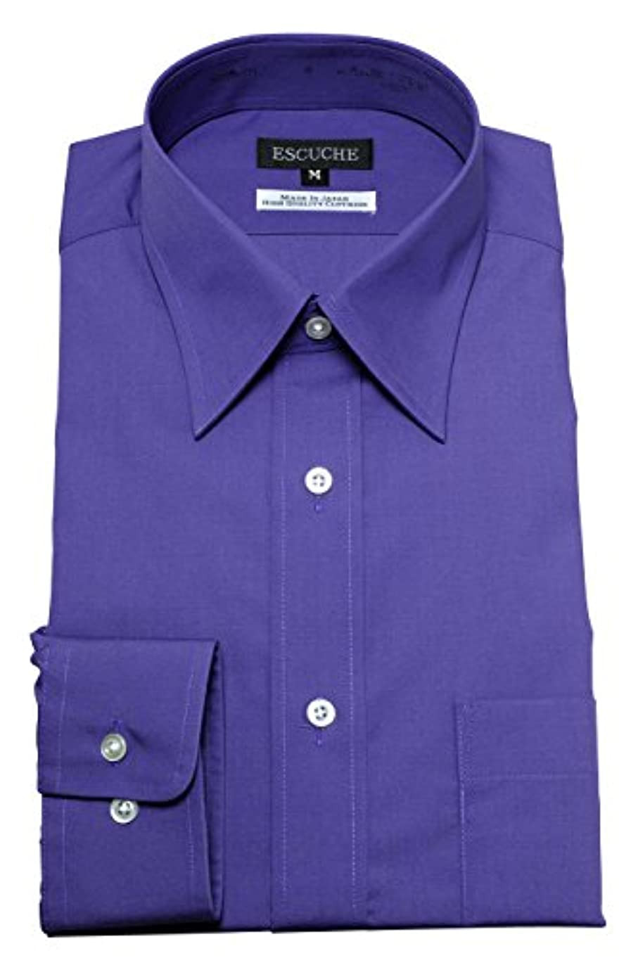 腹部火活気づく[オジエ] ozie【ワイシャツ?カッターシャツ】レギュラーフィット?形態安定?レギュラーカラー ドレスシャツ?日本製 パープル 4L-4788