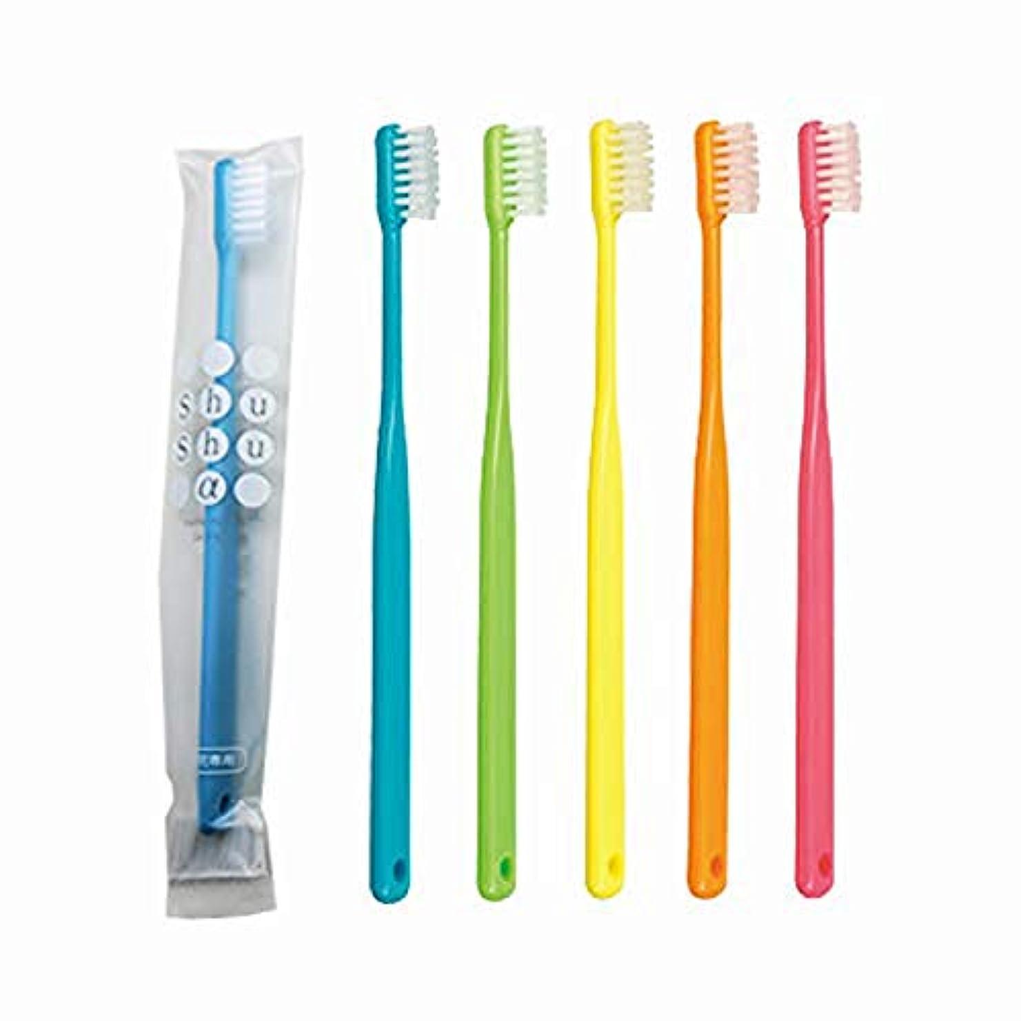 目を覚ます大学生実質的に歯科専売品 大人用歯ブラシ FEED Shu Shu α(シュシュアルファ)×10本 M(ふつう)