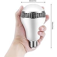 iCoco Bluetoothスマートスピーカーe27LEDホワイト+ RGB電球カラフルなランプスマート音楽オーディオBluetoothスピーカーwithのリモート・コントロールホーム、ステージ