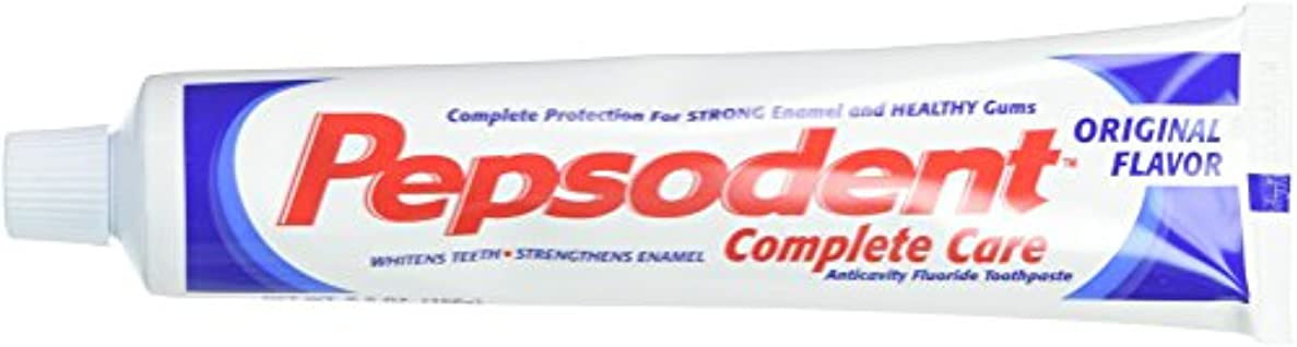 リビングルーム性別間に合わせPepsodent Complete Care Anticavity Fluoride Toothpaste, Original, 6 Count by Pepsodent