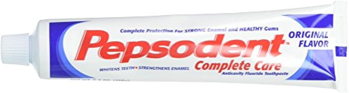 始める決定する派生するPepsodent Complete Care Anticavity Fluoride Toothpaste, Original, 6 Count by Pepsodent