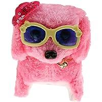 【ノーブランド品】ピンク ウォーキング 吠える テール 振る 子犬 電子玩具 wi /帽子&メガネ 子供 贈り物