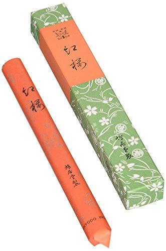 鳩居堂のお線香 紅桜 紙箱 短寸1把入 17cm #202