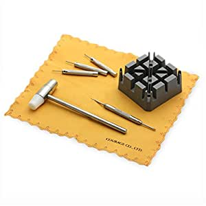 【Vanilla Vague】腕時計ベルト調整 工具 サイズ調整 時計工具/腕時計工具 拭き布 7点セット