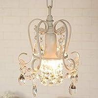 シャンデリア プチシャンデリア moca ホワイト WH ガラス ビーズ 1灯 白 アンティーク調 LED対応 ミニシャンデリア