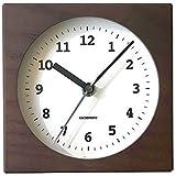 KATOMOKU Dual use clock 4 km-95BRC ブラウン 電波時計 連続秒針