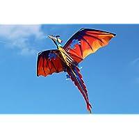 iMeshbean 3d Dragon Kite Single Line with Tailファミリアウトドアスポーツトイ、簡単に組み立て、起動、フライ – プレミアム品質、最高の凧for Kids /凧for Adults – Great初心者Kite
