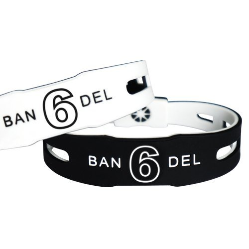 [ラッキーナンバー6] バンデル ナンバーブレスレットNo.6 リバーシブル(ブラック・ホワイト)Mサイズ(17.5cm)風水【BANDEL...