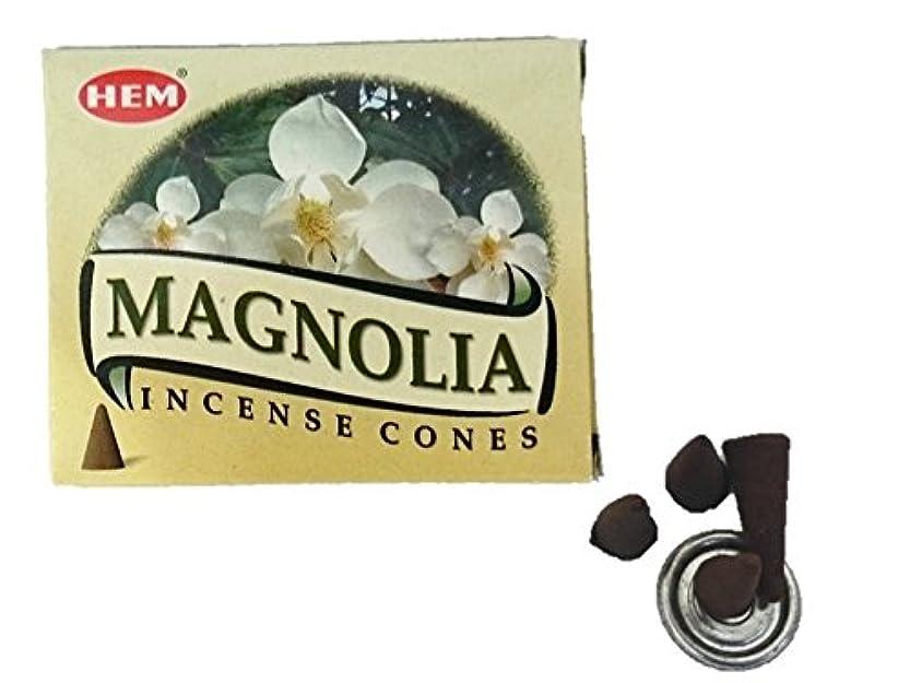 記念碑しなやか符号HEM(ヘム)お香 マグノリア コーン 1箱