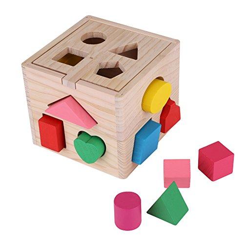 木製玩具 赤ちゃん ぱずるボックス 型はめ キッズ 積み木 ...