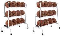 BSN Sports 12ボールカート ワイドベース (12ボール) ホワイト 2-(Pack)