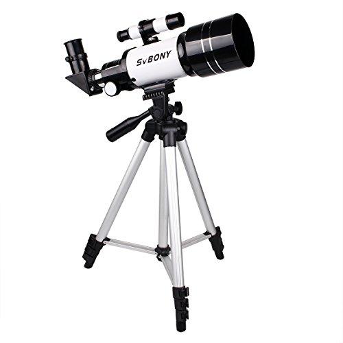 SVBONY 天体望遠鏡 経緯台式 屈折式 子供 初心者 天体観察 操作簡単 スマホアダプタ 三脚 日本語のマニュアルなど付き (70/300mm)
