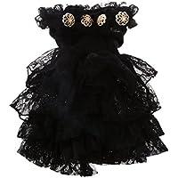 【ノーブランド 品】1/3 BJD SD 人形 パーティー ブラック ショルダー ドレス かわいい