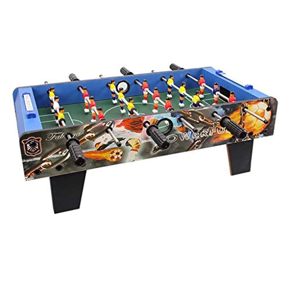 リダクター剥ぎ取る民間人子供のおもちゃ子供のテーブルサッカー子供の教育玩具3-10歳の子供のおもちゃギフト6席テーブルサッカーマシンのギフト家族のゲーム機木材 (Color : BLUE, Size : 69*37*24CM)