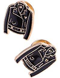 B Blesiya 全2タイプ 個性的 衣類付属品 ブローチピン キルトピン タイピン 襟ピン ユニセックス パーティー 宴会 ジュエル 2個セット - 衣装型