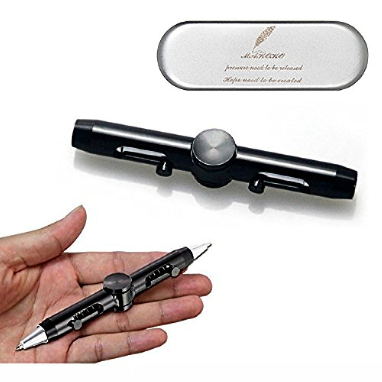 MAKOKOペン回し ストレス解消ペン 多機能ペン 改造ペン ボールペン 回しやすい 高速 手癖解消 文房具 集中力 筆記 ブラック
