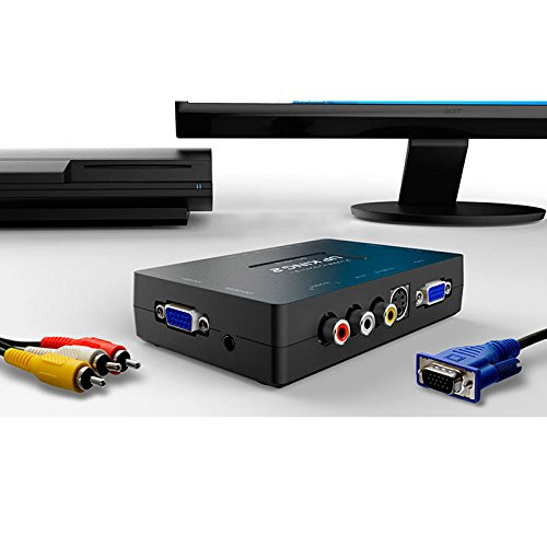エアリア UP KING2 アップスキャンコンバーター コンポジット入力 VGA出力 アップスキャンコンバーター 音声対応 SD-VSC2
