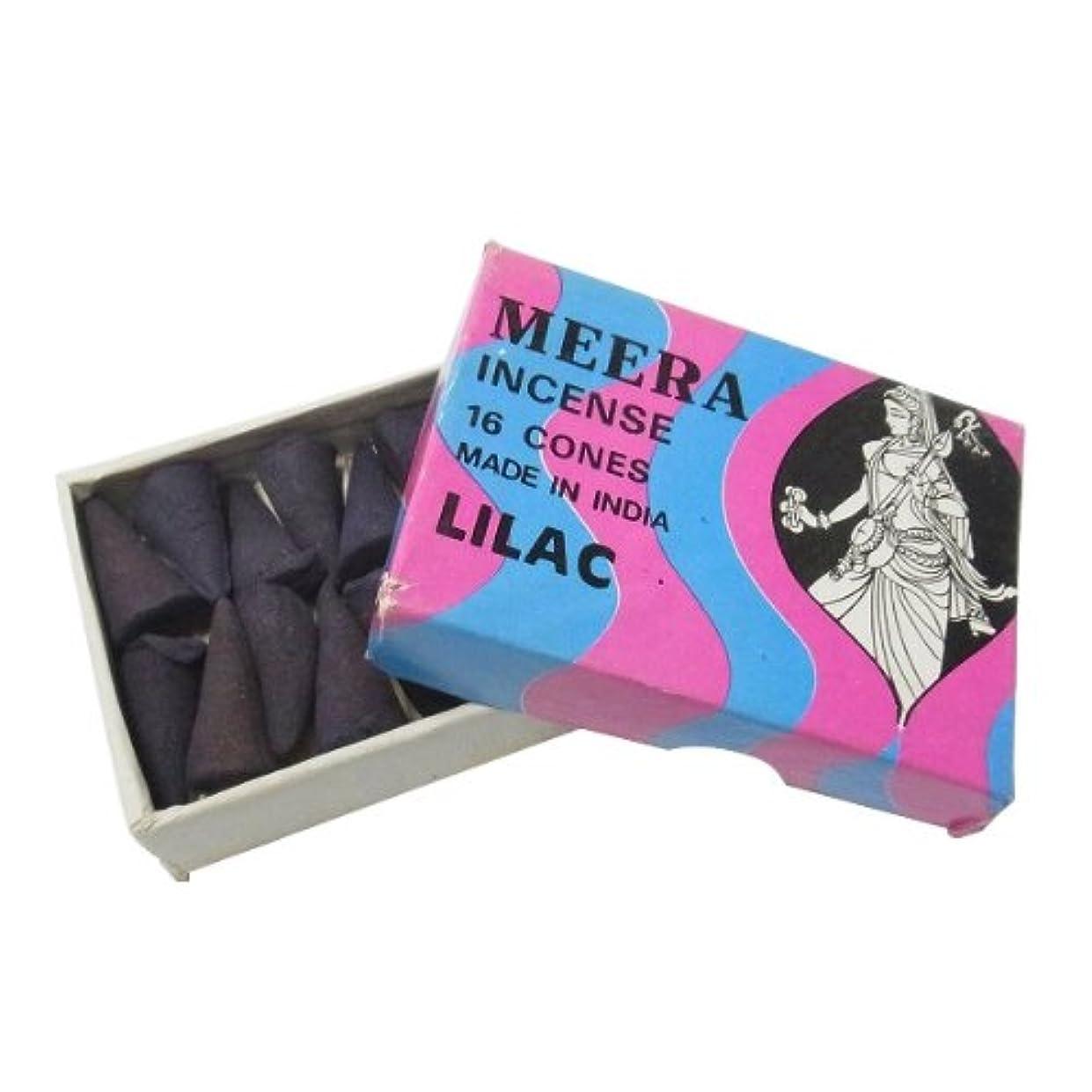 ペッカディロ辛な結論ライラックのお香(MEERA) コーン型お香 インド香