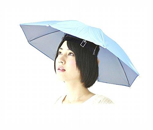 【65cm】釣り・屋外での作業の日差しカット!つり用傘  釣り傘  傘帽子 釣り用 ゴムバンドでらくらく装着 かぶる傘【色アソート】