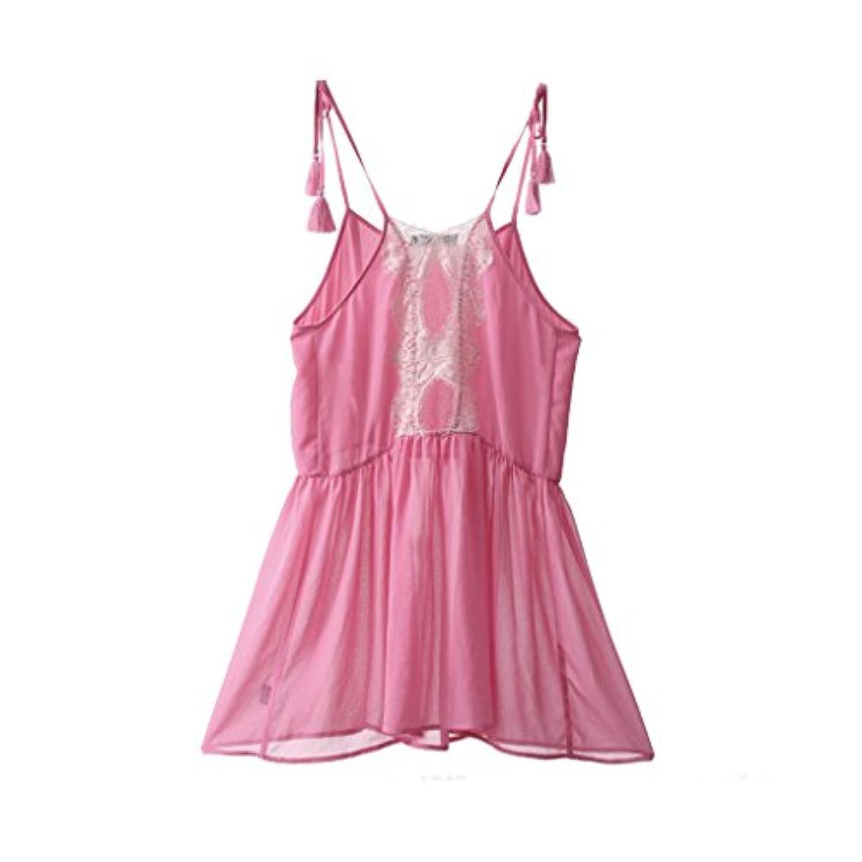 GAODUZI 夏薄い段落睡眠スカートセクシーなサスペンダーレディースナイトドレスパジャマホームサービスアンダーウェアドレス