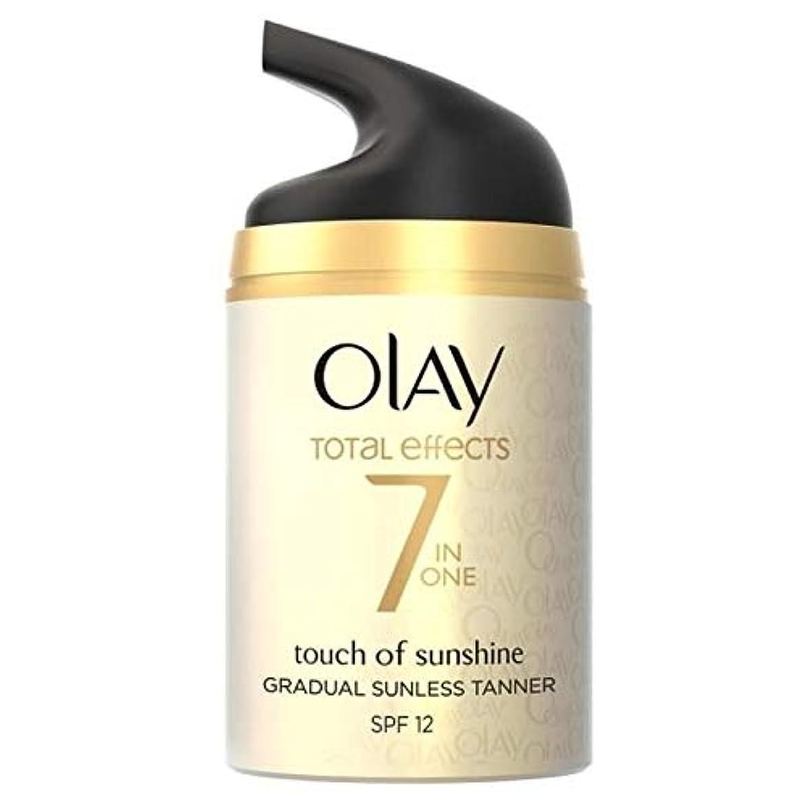 グリット傾斜領域[Olay ] 日照保湿50ミリリットルの総効果の7In1のタッチ - Total Effects 7in1 Touch of Sunshine Moisturiser 50ml [並行輸入品]