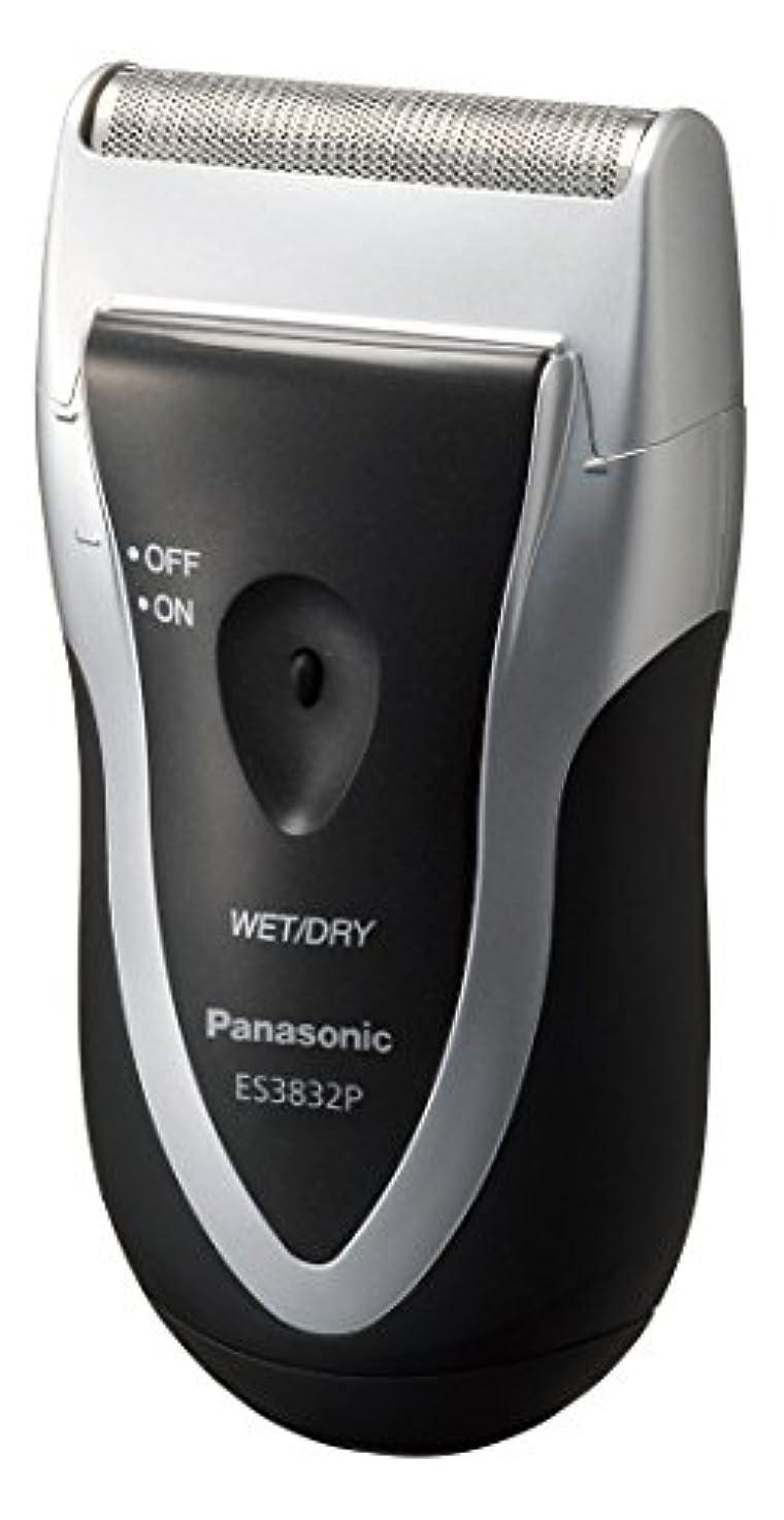 相関する炭水化物筋パナソニック スーパーレザー メンズシェーバー 1枚刃 シルバー調 ES3832P-S
