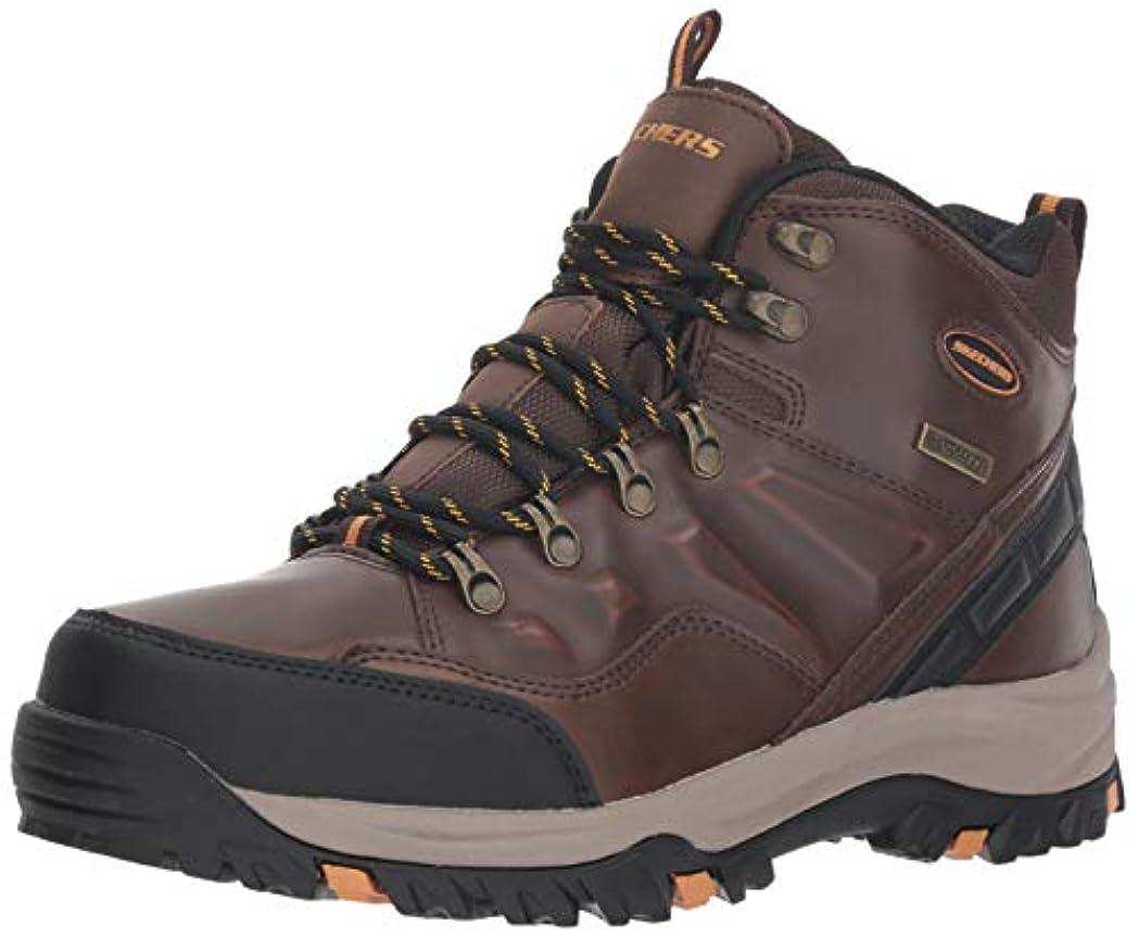 寓話出席する図書館Skechers Relment Traven Mens Waterproof Leather Boots [並行輸入品]
