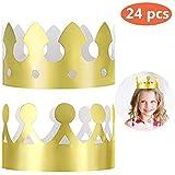 MSDADA ゴールデンキングクラウン24個 (スタイル2個) 金箔紙 パーティークラウン帽子キャップ 誕生日 お祝い ベビーシャワー フォト小道具 結婚記念日に