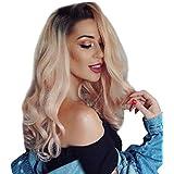 ウィッグの女性の長い髪の巻き毛のセクシーなピンクのグラデーションウィッグローズネット