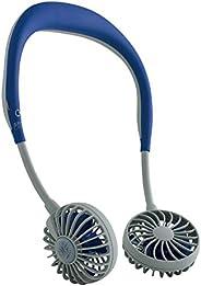 SPICE OF LIFE 免提 便携式 风扇WFan(双风扇) 藏青色 便携 挂脖 USB充电式 风量3档调节 角度可调节 5片扇叶 安全性试验 DF30SS01-NY