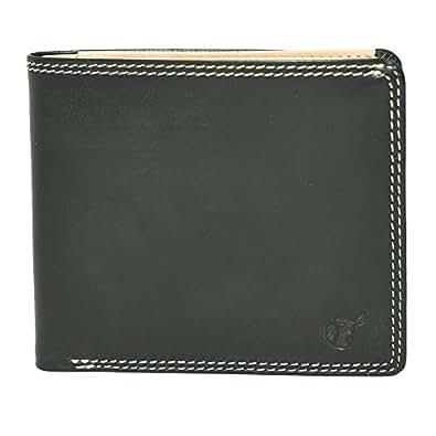 【BRITISH GREEN】ブリティッシュグリーン ブライドルレザーダブルステッチ二つ折り財布 (グリーン)