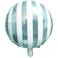 Lovoski ラージ アルミホイル製 ストライプ キャンディ 風船 キッズの誕生日 プレゼント クリスマスパーティー デコレーション 全3色 - ブルー