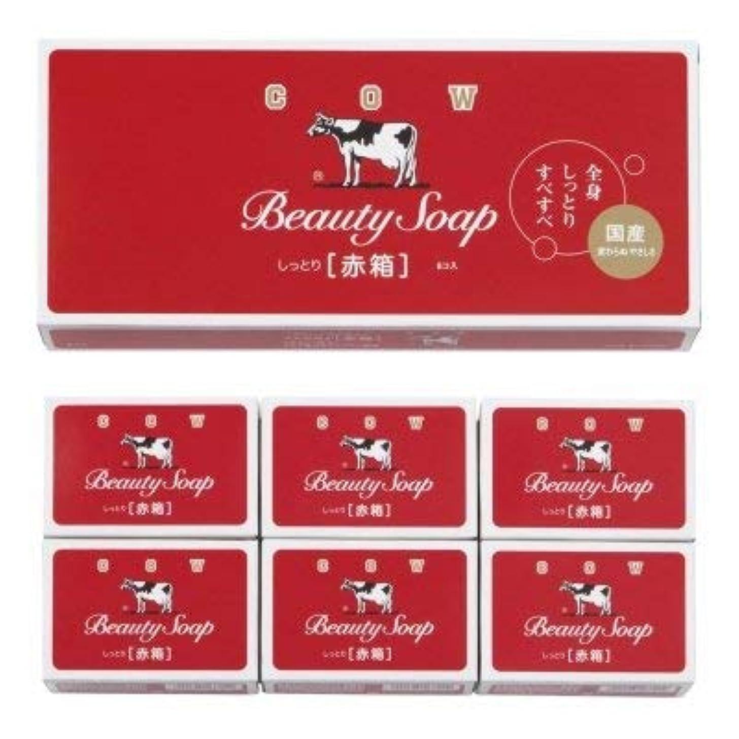銀行水分反射【国産】牛乳石鹸 カウブランド 赤箱6コ入 (12個1セット)