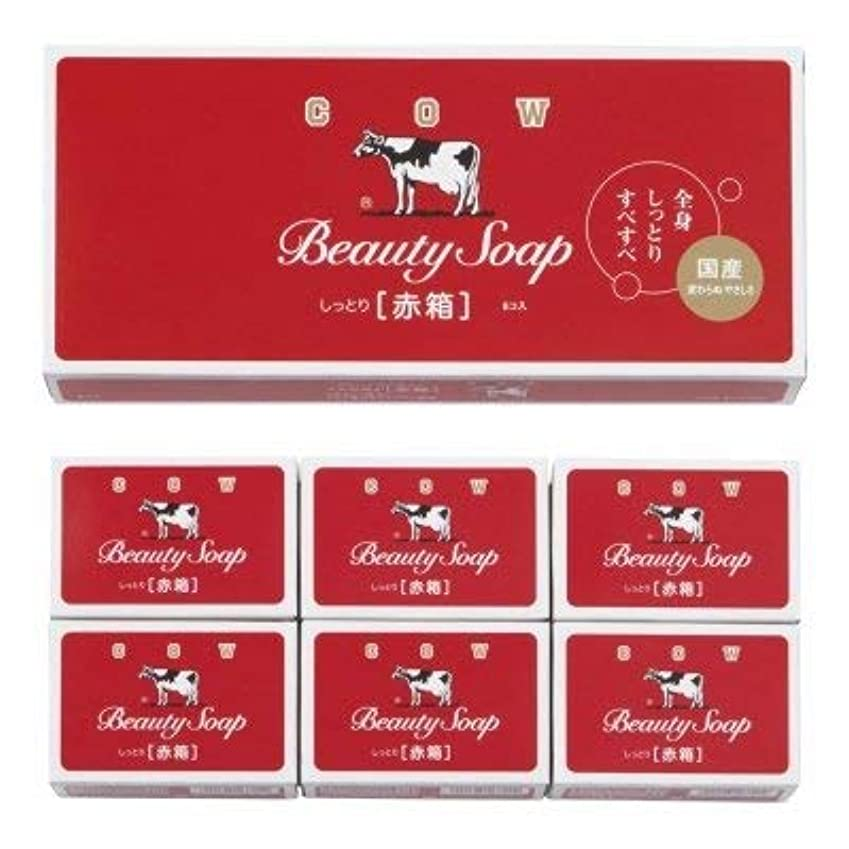 病事粘り強い【国産】牛乳石鹸 カウブランド 赤箱6コ入 (12個1セット)