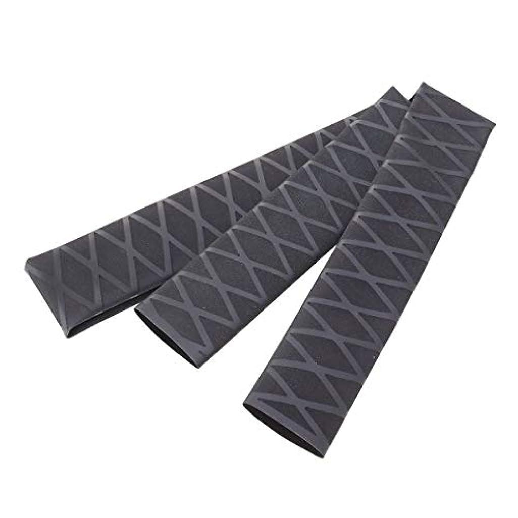 どれ無サラミLIOOBO ノンスリップチューブラップチューブ保護ポリオレフィン熱収縮滑り止めロッドアクセサリーハンドルスリーブカバー(ブラック)