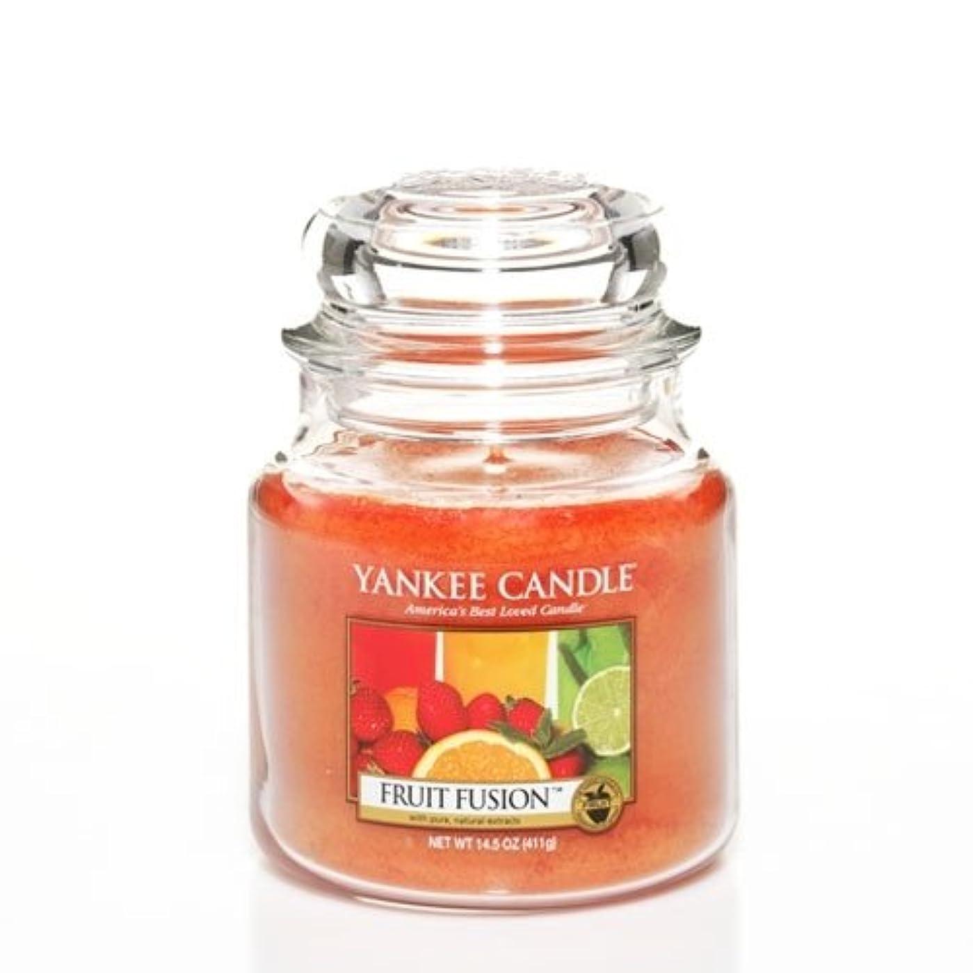 古いベースハーブYankee Candle Fruit Fusion Medium Jar Candle、フルーツ香り