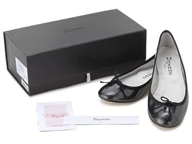 レペット バレエシューズ 靴 V086VME-905-37 ブラック ジルコン パテントレザー 【37】 repetto (並行輸入品)