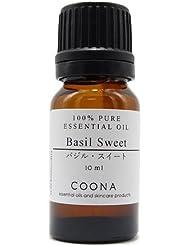 バジル スイート 10 ml (COONA エッセンシャルオイル アロマオイル 100%天然植物精油)