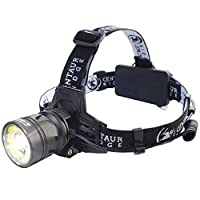 Centaur Ridge Headlamp - Xtreme Bright, 1000 Lumen CREE LED, Zoomable, USB Rechargeable | Best Flashlight for Camping, Hiking, Running, Work [並行輸入品]