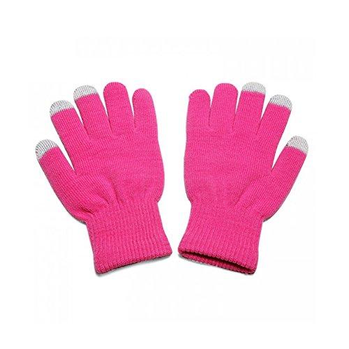ピンク PinkユニセックスフルフィンガーワンサイズTouchTipタッチスクリーン冬用グローブPantech Renue