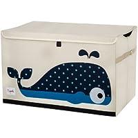 知育子供玩具収納箱 収納ケース 折りたたみフォックスオード布 (鯨)
