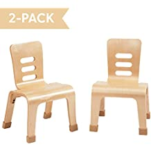ECR4Kids Bentwood School Stacking Chair for Students, Natural, Pack of 2