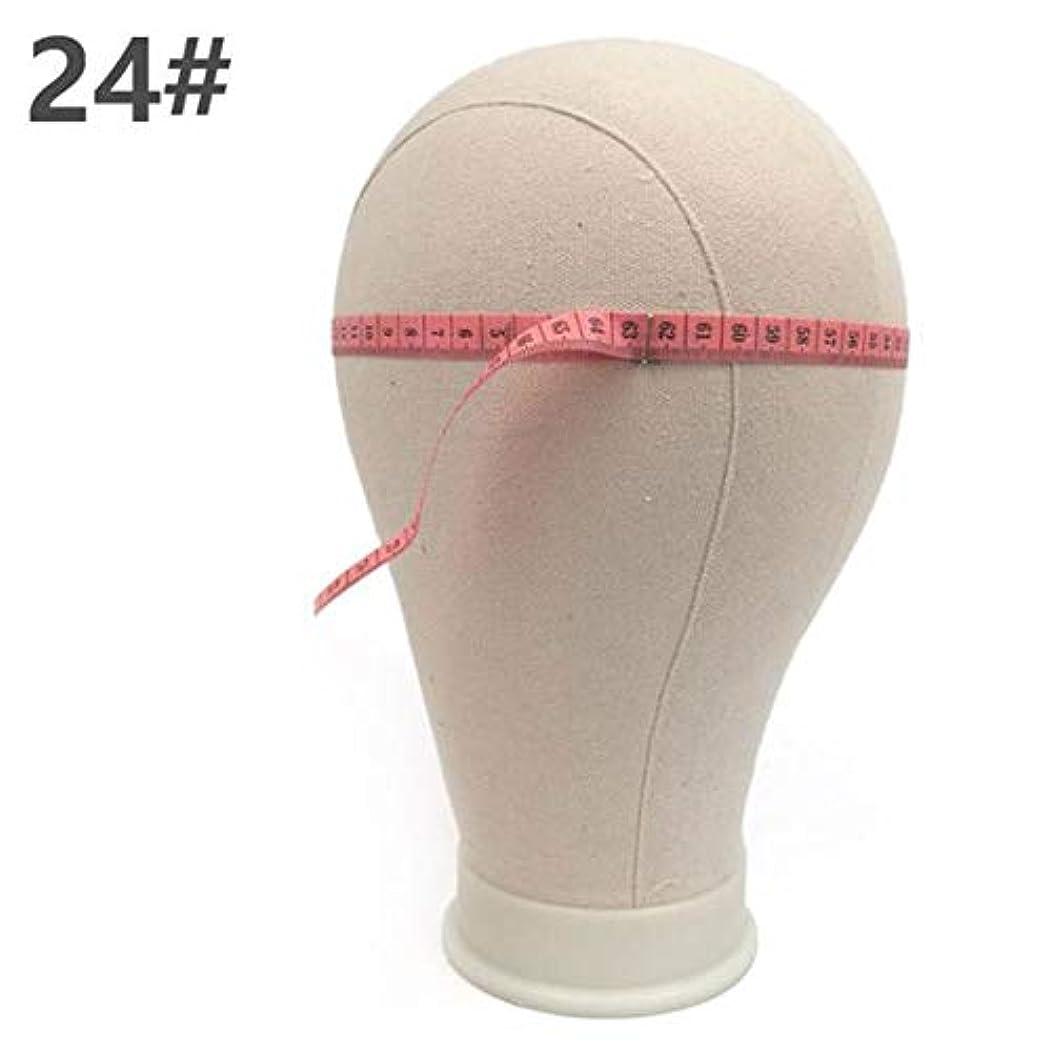 熱帯の保険をかける可能にするヘッドモールドウィッグブラケット仕上げウィッグ形状ピン止め可能な布布モデルヘッドキャンバスヘッドモデルヘッドウィッグ配置,D
