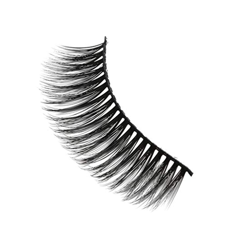 バランス忌避剤世界柔らかい長い巻き毛と歪んだ多くの層まつげと3Dミンクの毛皮の10ペア