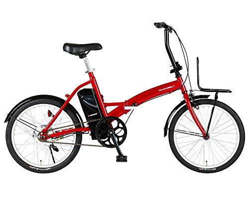 トランスモバイリー(TRANS MOBILLY) CONVENIENT FDB200E レッド 電動アシスト自転車 折りたたみ 20インチ 前後泥除け付き 前キャリア付き またぎやすくコンパクト バッテリー容量5.8Ah 92205-0299