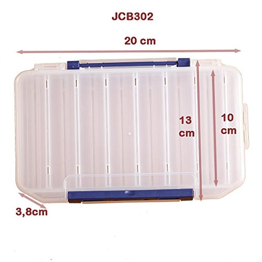 チャート胴体不快なプラスチック製Zubehörboxフィッシングフィッシングタックルボックスルアーボックスタックルボックス(JCB302)
