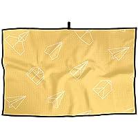 紙飛行機 派手 ユニーク おしゃれな スタイリッシュ 面白い ラブリー タオル アウトドア スポーツ タオル アダルト ゴルフタオル